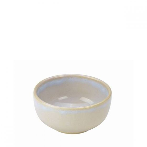 White Terra Stoneware Round Bowl 4.5