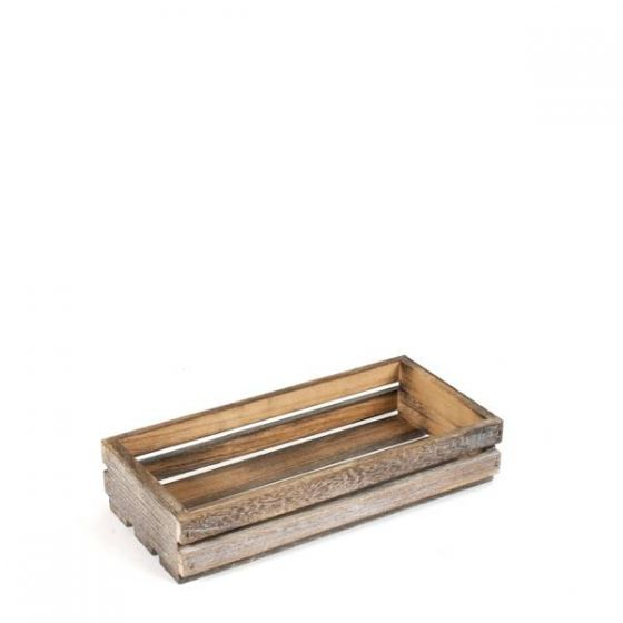 Small Darkwood Wooden Crate 25x12x5cm
