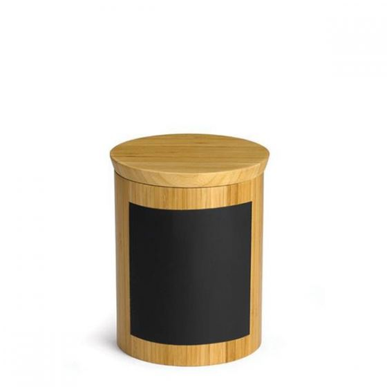Bamboo Round Riser with Chalk 5x5x5""
