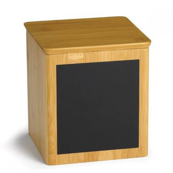 Bamboo Square Riser with Chalk 13x8x7