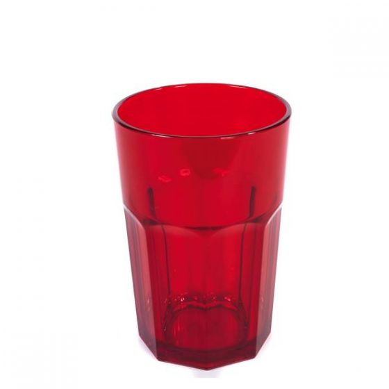 Harfield Red Copolyester Translucent Tumbler 12oz / 34cl