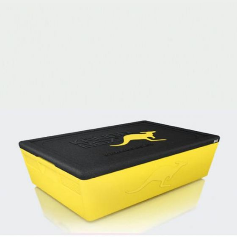 KANGABOX 1/1 Expert Gastronorm Yellow Top Loading Insulated Box 21Ltr, 117mm Deep