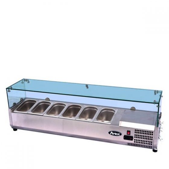 Atosa Refrigerated Countertop Deli Unit for 7x1/4 Gastronorm (Not Supplied) 1500x335x435