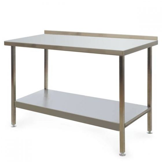 Stainless Steel Fully Welded Kitchen Wall Bench 1200x600x850mm