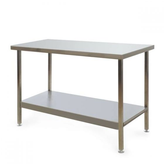 Stainless Steel Fully Welded Kitchen Centre Bench 1200x600x900mm