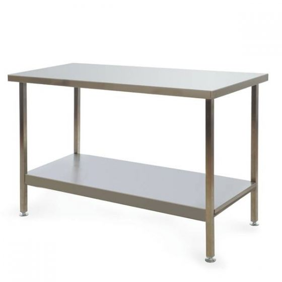 Stainless Steel Fully Welded Kitchen Centre Bench 1500x600x900mm
