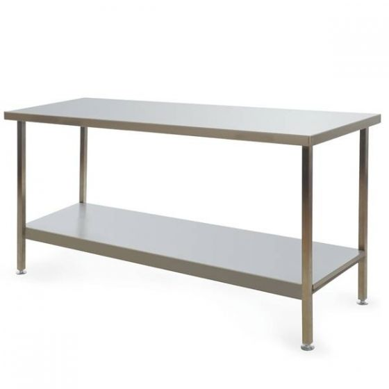 Stainless Steel Fully Welded Kitchen Centre Bench 1800x600x900mm