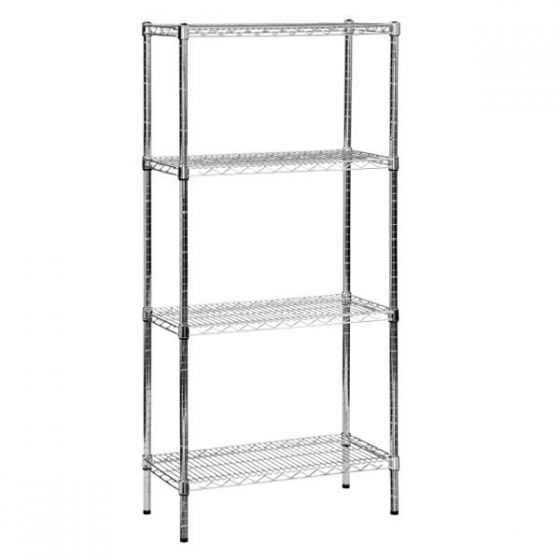 Eclipse 4 Tier Chrome Wire Racking 1520x610x1625mm