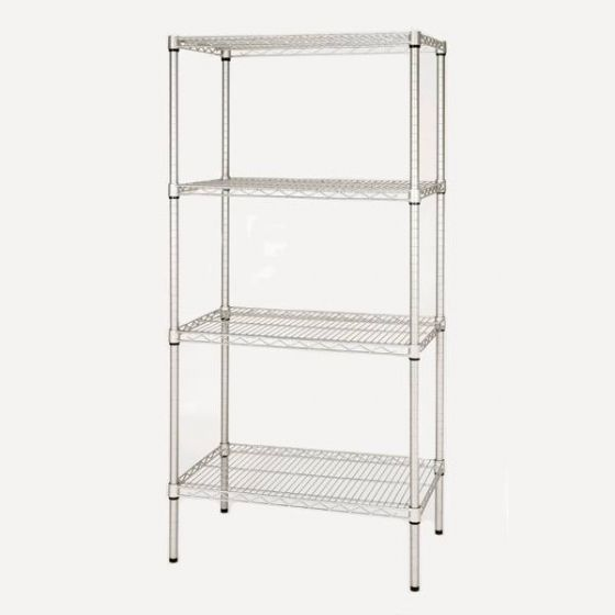 Eclipse Epoxy Coated 4 Tier Perma Plus Wire Racking 915x610x1625mm