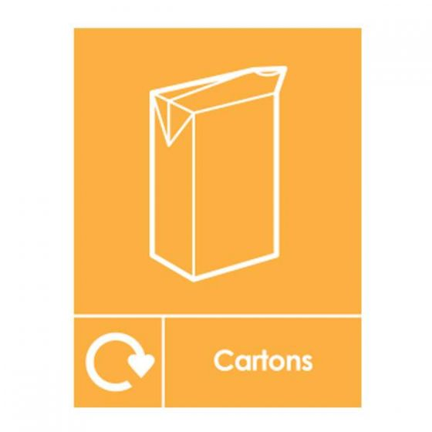 Cartons Recycling Sticker 200x150mm