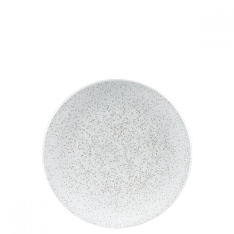 Art De Cuisine Menu Shades Caldera Chalk White Coupe Plate 6.125