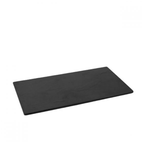 Dalebrook Black 1/3 size Slate Effect Melamine Tray with Silicone Feet 17.6x32.5x1cm
