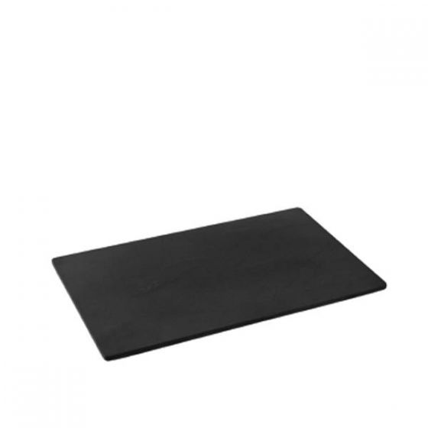 Dalebrook Black 1/4 size Slate Effect Melamine Tray with Silicone Feet 26.5x16.2x1cm