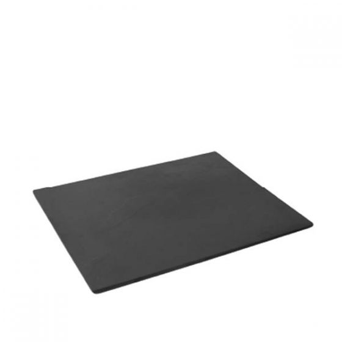 Dalebrook Black 1/2 size Slate Effect Melamine Tray with Silicone Feet 32.5x26.5x1cm