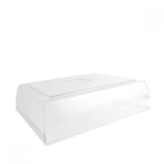 Dalebrook Clear Polycarbonate 93mm Raised Stacking Cover for Flat Platters 285x3