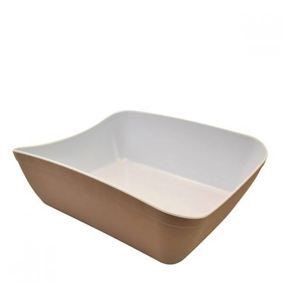 Dalebrook Stone And White Matt Melamine 1/2 Verdura Crock 3.8L 325x598x113mm / 1