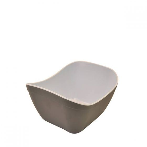 Dalebrook Grey & White Matt Melamine 1/6 Verdura Crock 1Ltr, 176x162x112mm
