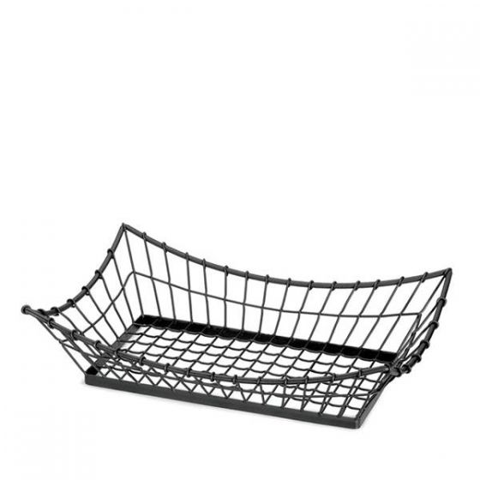 Black Rectangular Wire Basket 660x305x152mm / 21x13x5.5
