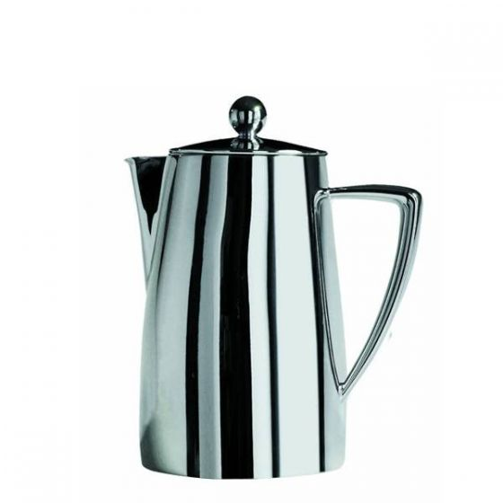 Art Deco Coffee Pot 18/10 Stainless Steel 17oz / 48cl