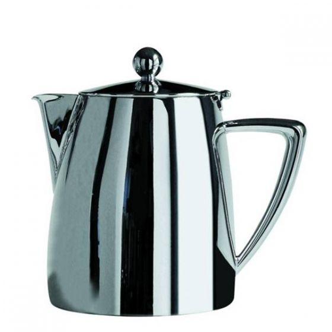 Art Deco Teapot 18/10 Stainless Steel 28oz / 80cl