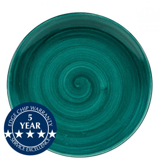 Churchill Stonecast Patina Rustic Teal Coupe Plate 11.25
