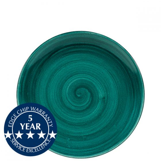 Churchill Stonecast Patina Rustic Teal Coupe Plate 8.66