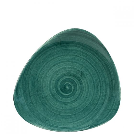 Churchill Stonecast Patina Rustic Teal Triangle Plate 9
