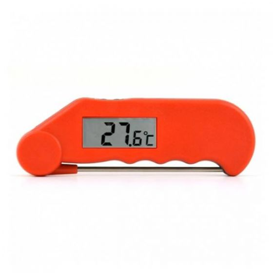 Gourmet Folding Probe Thermometer Red