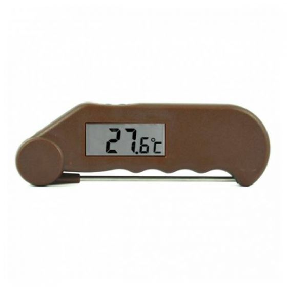 Gourmet Folding Probe Thermometer Brown