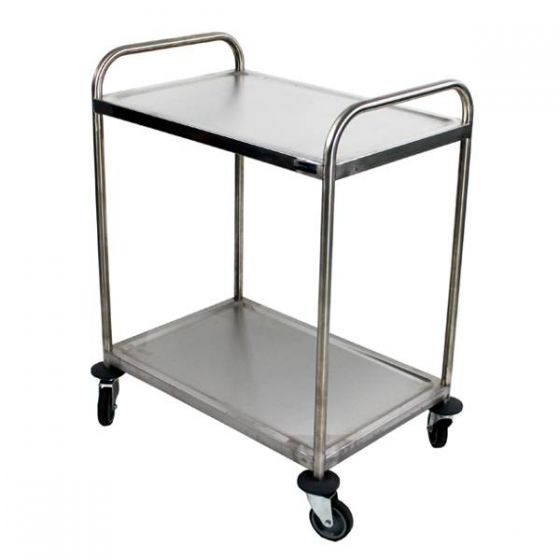 2 Tier Fully Welded Trolley with Four Castors & Two Brakes 32x22.5x38.2