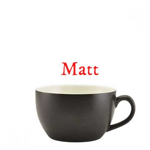 Royal Genware Matt Black Bowl Shaped Cup 8.75oz / 25cl