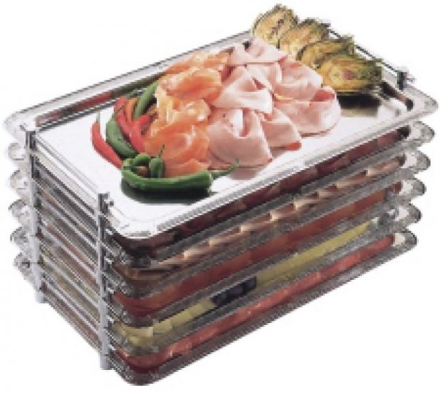 Stainless Steel Stackable Buffet Tray 1/1 Gastronorm Size 20.9 x 17.8
