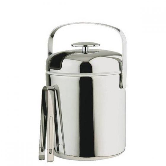 Stainless Steel Ice Bucket with Tongs 1.3Ltr, 5.5