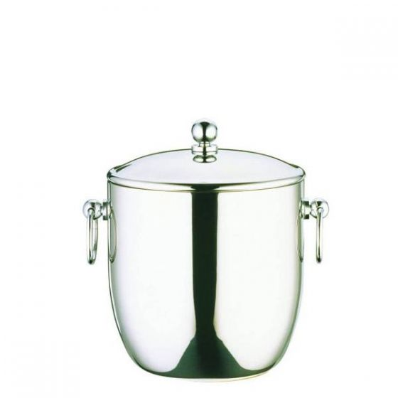 Elia Premium Stainless Steel Ice Bucket with Water Tray 1.3Ltr, Small