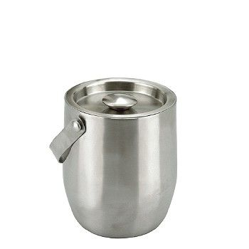 Small Stainless Steel Double Walled Ice Bucket 1Ltr