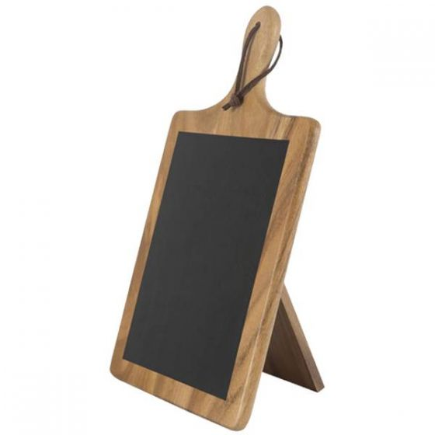 Tuscany Acacia Wood Paddle Chalk Board 38.5x22x2.5cm