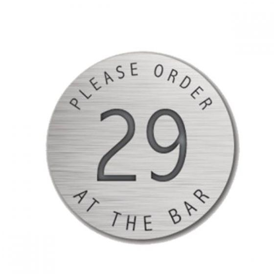 Self Adhesive Please Order at the Bar 38mm Silver Disk (State No's Req)
