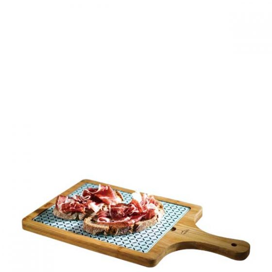 Lacor Bamboo Serving Board with Glass Inlay 8.5x150.5