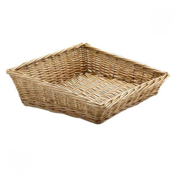 Handwoven Angled Wicker Basket 13.5 x 11