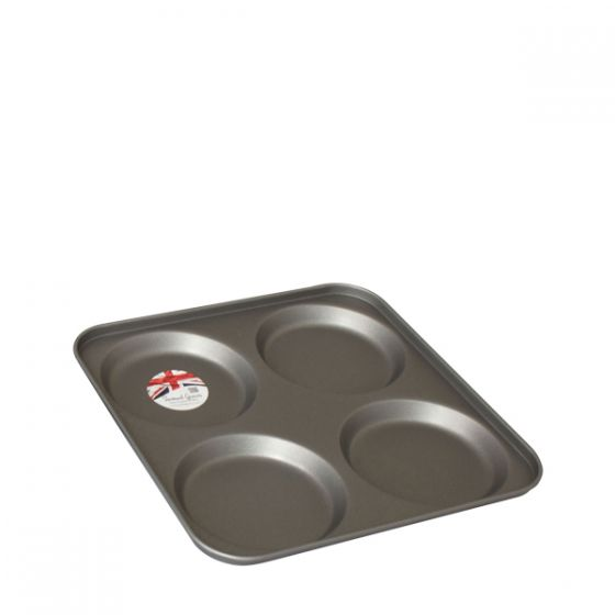 Non Stick Yorkshire Pudding Tray 23.5x23.5cm 4 Hole 100x15mm Cup
