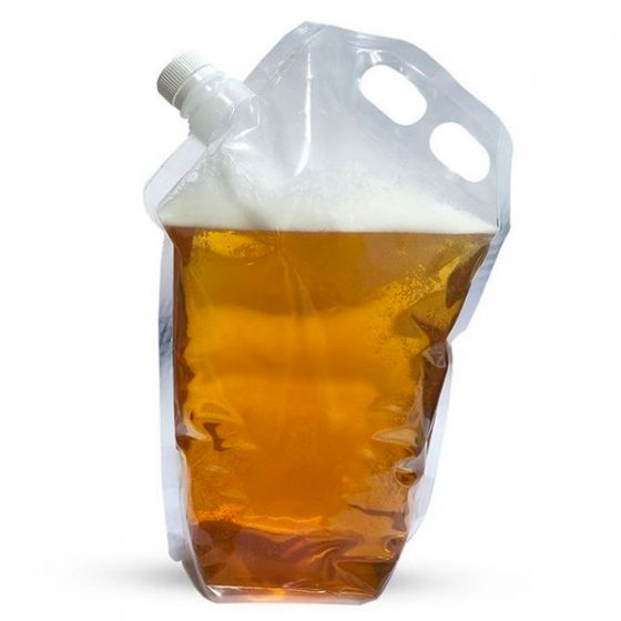 Four Pint Clear Expandable Beer Carrier