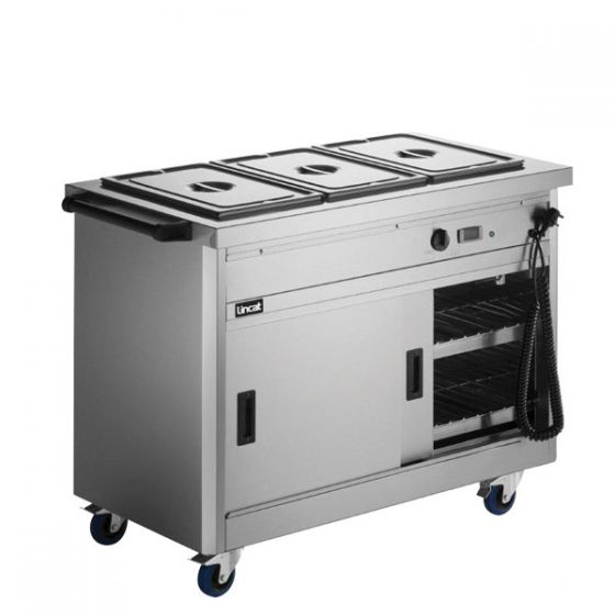 Lincat Panther 670 Series Hot Cupboard With Bain Marie Top 2.6kW 980x672x912mm