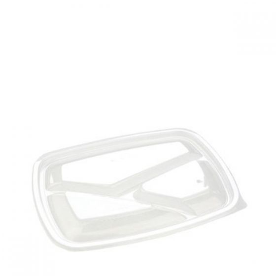 Sabert Fastpac Disposable Lid for 3 Compartment Container 23x17cm