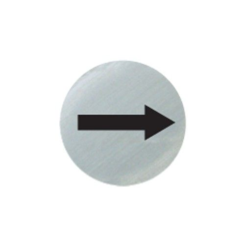 Satin Silver Arrow Symbol Door Disc 75mm