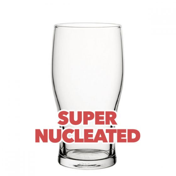 Toughened Tulip Pint Beer Glass Super Nucleated CE 20oz / 57cl