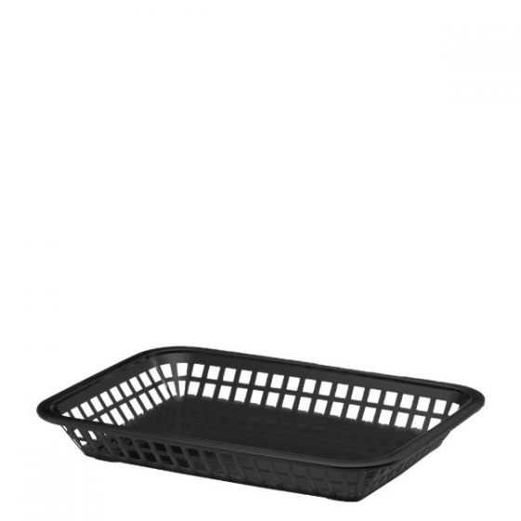 Classic Rectangular Basket Black 10.75 x 8