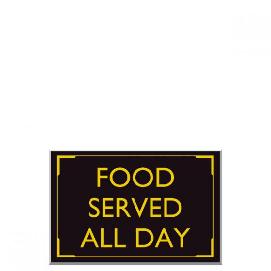 Car Park Signs Food Served All Day 300 x 400mm