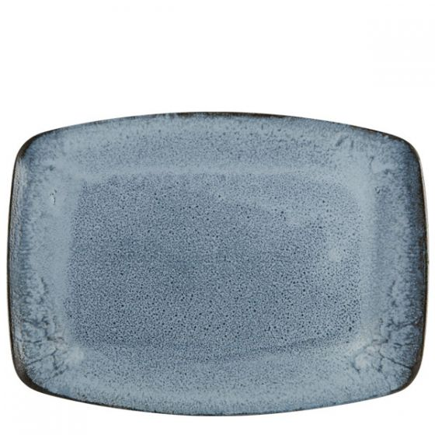 Porcelite Aura Glacier Rectangular Plate 12.5x9.3