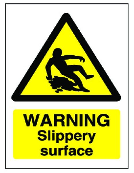 caution slippery floor surface vinyl sign catering cafe butchers shop business