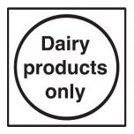 Dairy Products Only Sticker 10x10cm